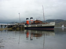 Tighnabruaich, The Waverley at Tighnabruaich Pier, Argyllshire © Richard West